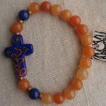 Bracelets With lampwork glass cross 001