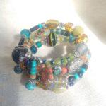 Bracelets Wrap mixed beads 10
