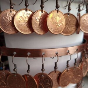 Natural Canadian Penny Earrings