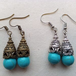 10mm Turquoise Howlite Earrings