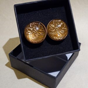 Natural Canadian Penny Cufflinks
