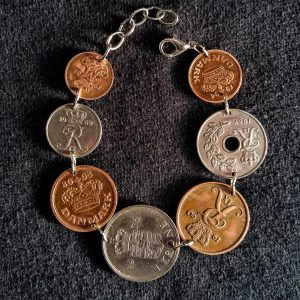 7 Danish coins bracelet